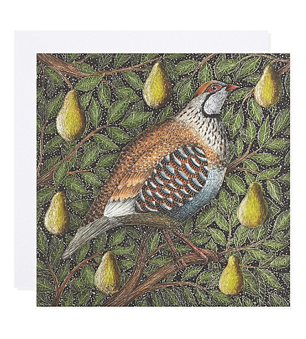 MUSEUMS + GALLERIES Partridge in a peartree set of eight Christmas cards