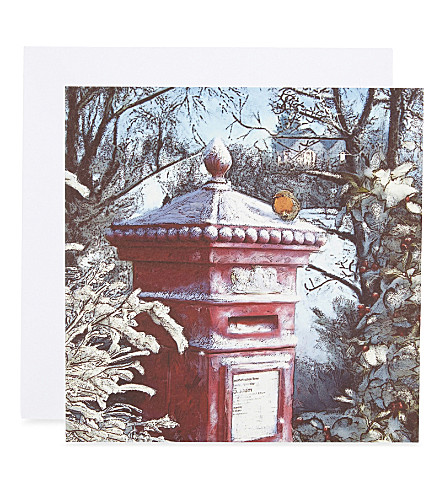 MUSEUMS + GALLERIES Frosted post box set of eight Christmas cards