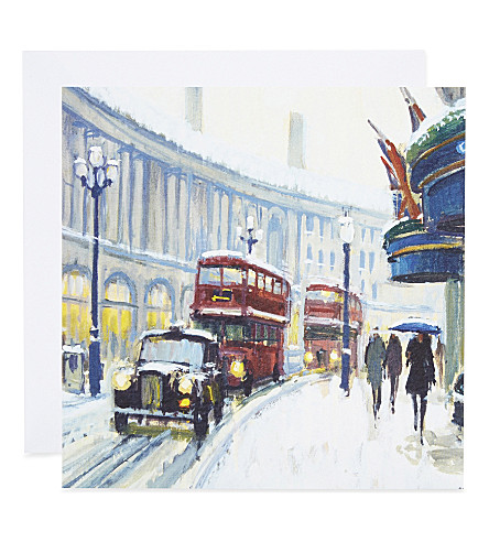 MUSEUMS + GALLERIES Snow on Regent Street cards pack of eight