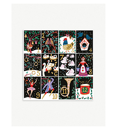 MUSEUMS + GALLERIES The Twelve Days of Christmas print Christmas cards set of 5