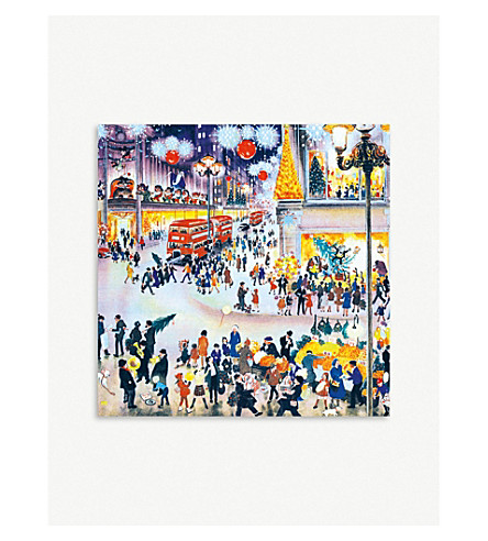 MUSEUMS + GALLERIES Christmas Shopping print Christmas cards set of 5