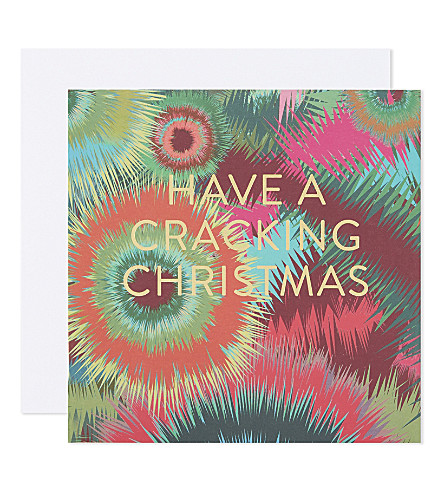 MUSEUMS + GALLERIES Cracking Christmas print Christmas cards set of 5