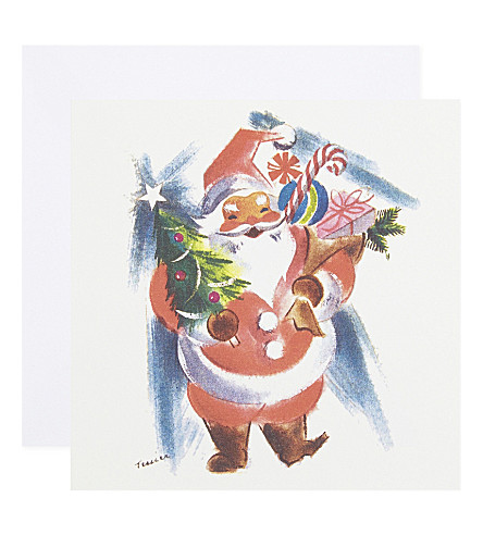 MUSEUMS + GALLERIES Jolly santa set of eight Christmas cards