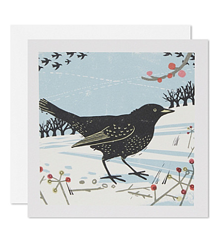 BOXED CARDS Set of 20 winter woodland christmas cards