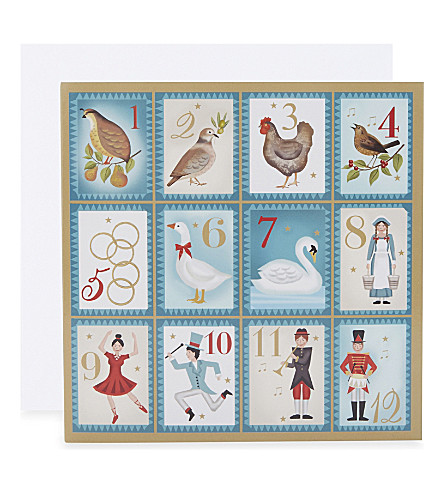 MUSEUMS + GALLERIES Deco Christmas set of 20 cards