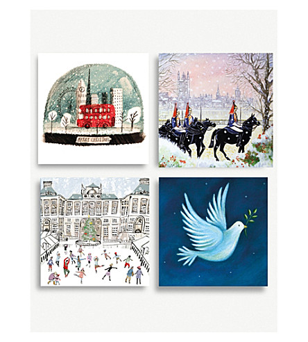 MUSEUMS + GALLERIES Set of 20 london Christmas cards