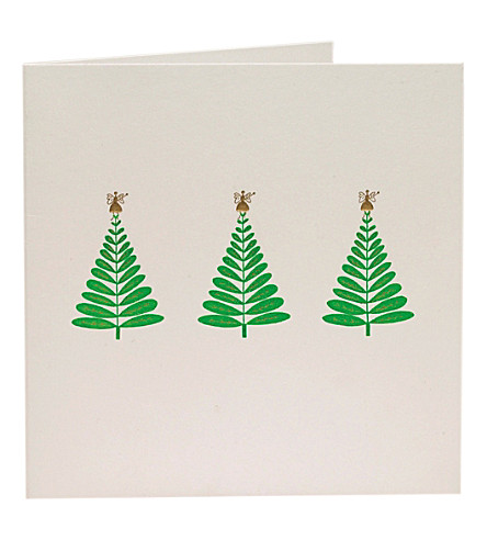 BOXED CARDS Trees and fairies Christmas cards pack of ten