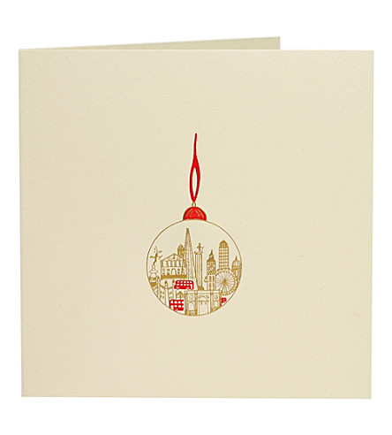 BOXED CARDS Bauble Christmas cards pack of ten