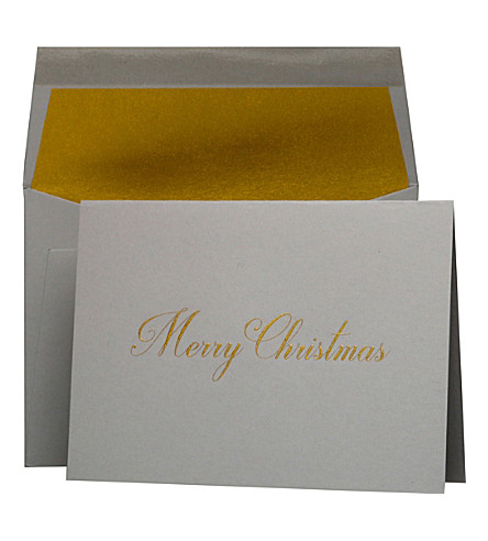 BOXED CARDS Merry Christmas Christmas cards pack of five