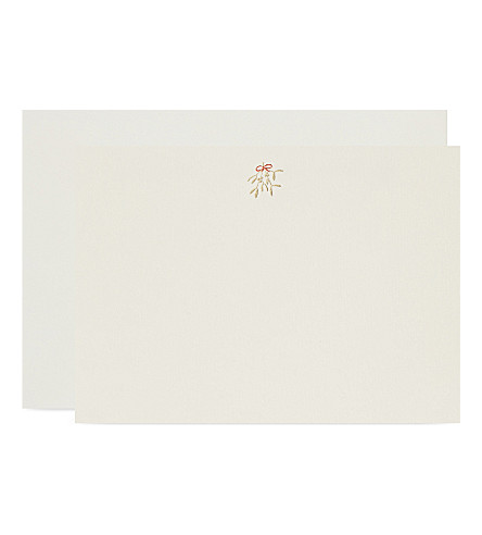 CARD Misteltoe correspondence cards set of ten