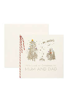 NONE To Mum and Dad Christmas card
