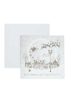 NONE Box of six Santa Sleigh Christmas cards