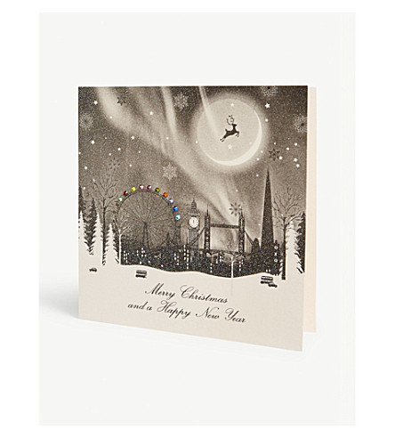 FIVE DOLLAR SHAKE London scene print Christmas card