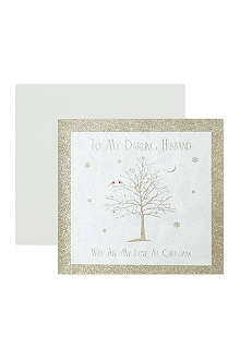 NONE To My Darling Husband Christmas card