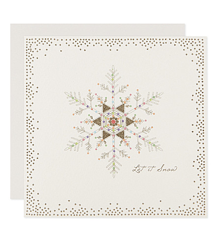 FIVE DOLLAR SHAKE Set of six glitter snowflake Christmas cards