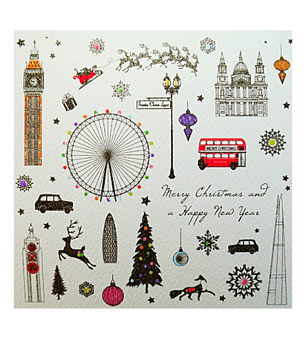 FIVE DOLLAR SHAKE London Christmas cards pack of six