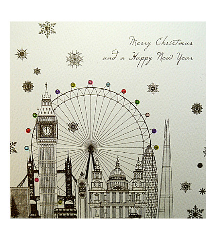 FIVE DOLLAR SHAKE London landmarks Christmas cards set of six