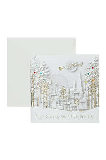 NONE Santa Over London Christmas card