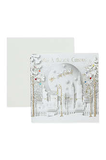 FIVE DOLLAR SHAKE New York skyline Christmas card