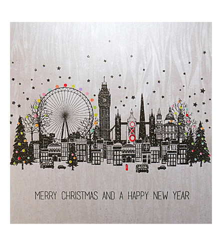 FIVE DOLLAR SHAKE London Christmas card pack of six