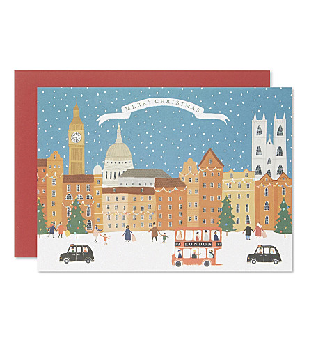 CARD London paper christmas cards set of five