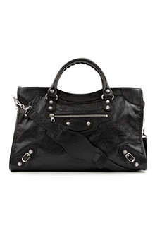 BALENCIAGA Giant City leather tote with silver hardware