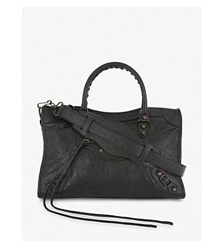... BALENCIAGA Classic City Arena small leather shoulder bag (Black.  PreviousNext 9119b23953d17