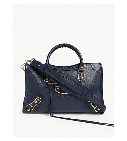 ... BALENCIAGA Classic Metallic Edge City grained leather tote bag  (Grey gold. PreviousNext 8d4904451e237