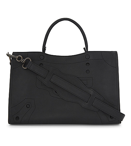 BALENCIAGA Classic City Blackout small leather shoulder bag (Black