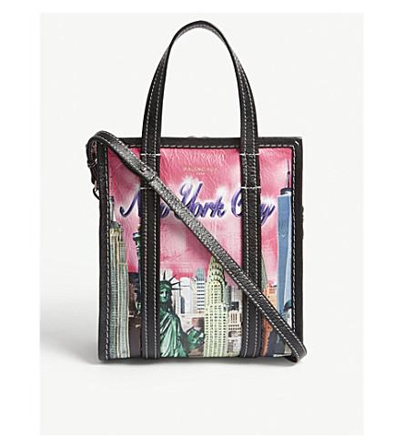 BALENCIAGA Bazar New York extra-small leather shoulder bag (Pink