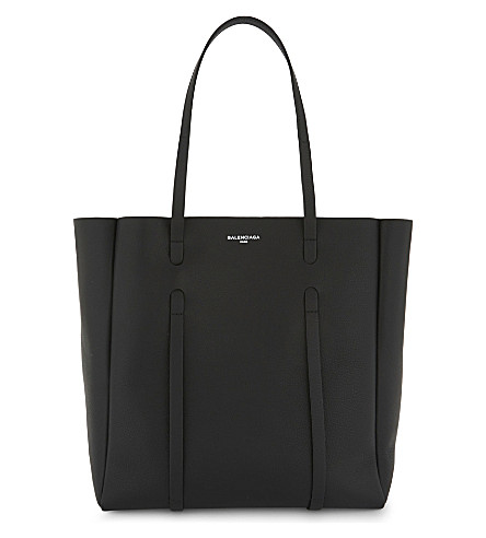BALENCIAGA Everyday leather tote and pouch (Black