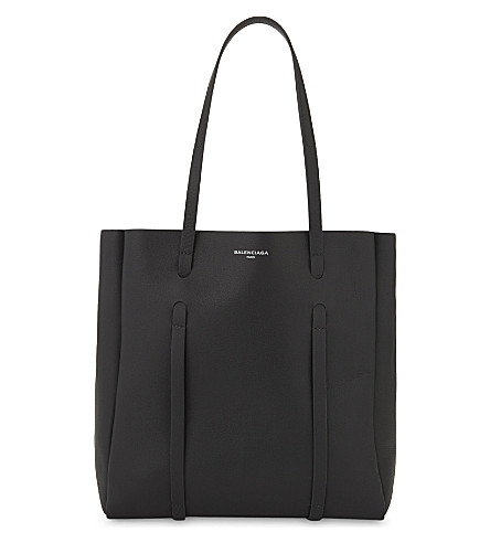 BALENCIAGA Everyday leather tote and pouch (Grey+blue