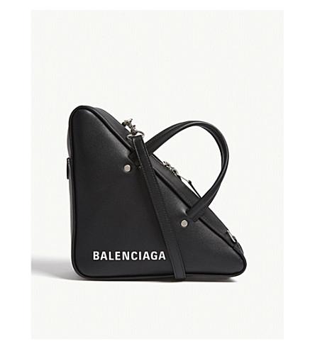 BALENCIAGA Triangle leather shoulder bag (Black