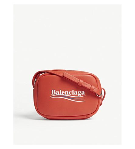 BALENCIAGA Everyday logo leather camera bag (Red