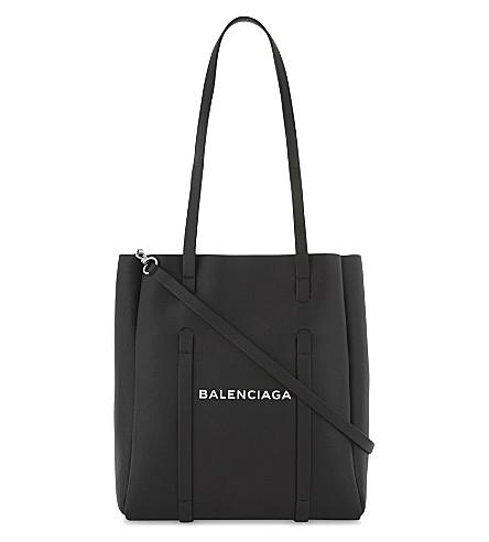 BALENCIAGA Logo leather tote (Black