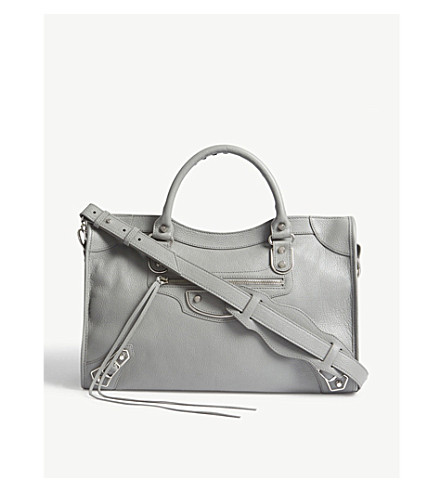 BALENCIAGA Classic City medium leather shoulder bag (Grey
