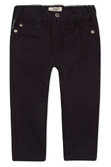 ARMANI JUNIOR Core gabardine trousers 3-24 months