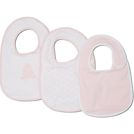 ARMANI JUNIOR Set of 3 logo bibs (Pink/white