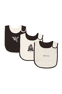 ARMANI JUNIOR Pack of three bibs