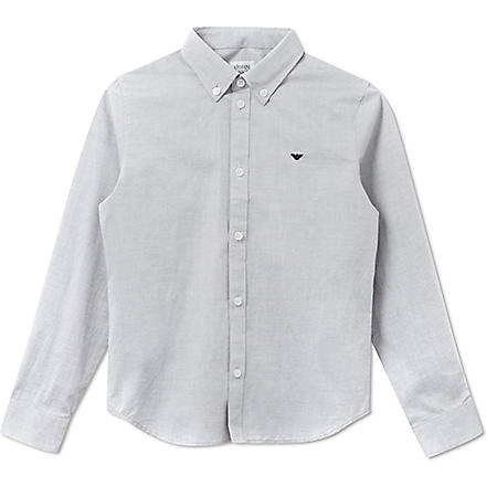 ARMANI JUNIOR Button down Oxford shirt 10-16 years (Blue