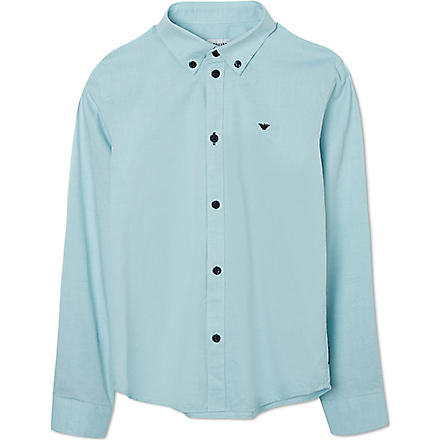 ARMANI JUNIOR Button down Oxford shirt 10-16 years (Green