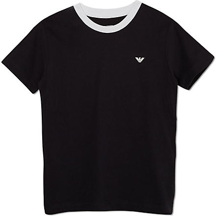 ARMANI JUNIOR Classic logo t-shirt 10-16 years (Navy