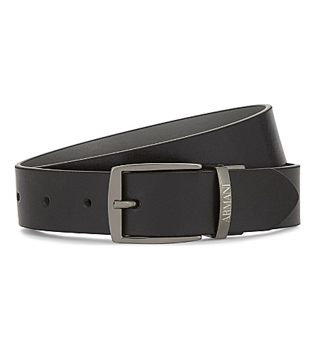 ARMANI JUNIOR Reversible leather belt (Black