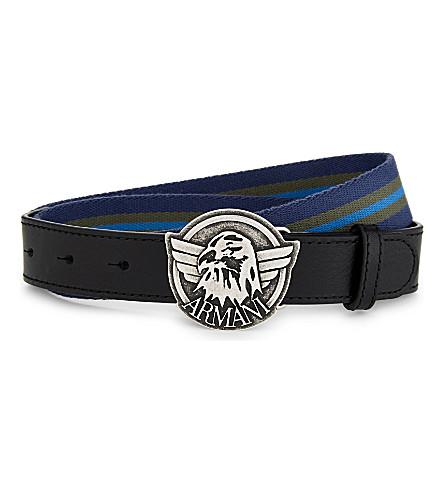 ARMANI JUNIOR Striped belt (Blue