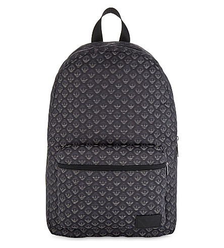 ARMANI JUNIOR Logo backpack (Black