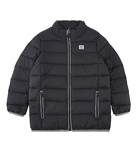 ARMANI JUNIOR Duck down puffa jacket 4-16 years (Black