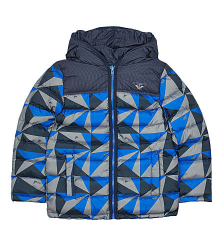 ARMANI JUNIOR Geo shell puffa coat 4-16 years (Multi