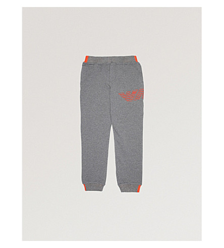 ARMANI JUNIOR Logo cotton jogging bottoms 4-16 years (Grey