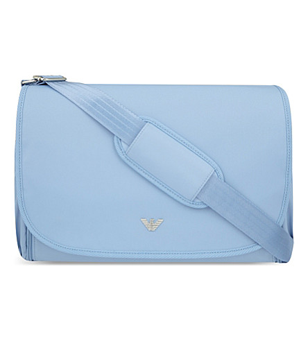 ARMANI JUNIOR Classic changing bag (Light+blue