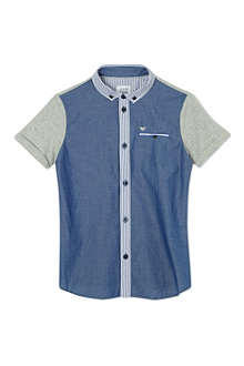 ARMANI JUNIOR Contrast denim shirt 10-16 years